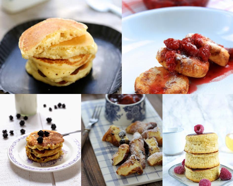 crêpes épaisses russes , autrichiennes , pancakes moelleux ,
