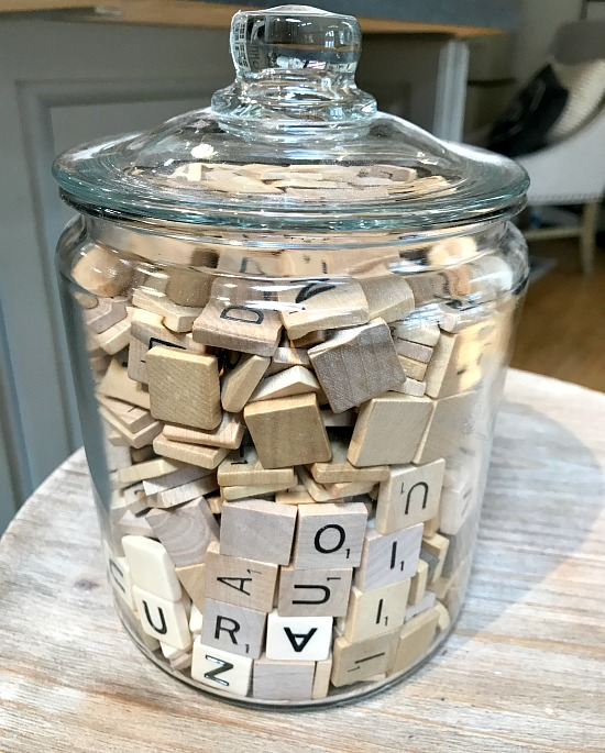 Vintage scrabble letters for crafts
