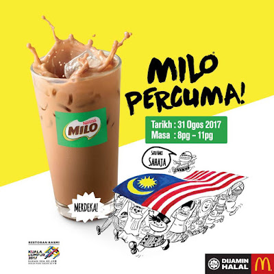 McDonald's Malaysia Free Iced Milo Promo