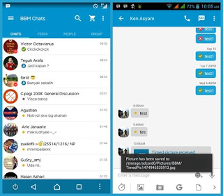 Download BBM MOD Smooth BLue New Features APK V3.0.1.25