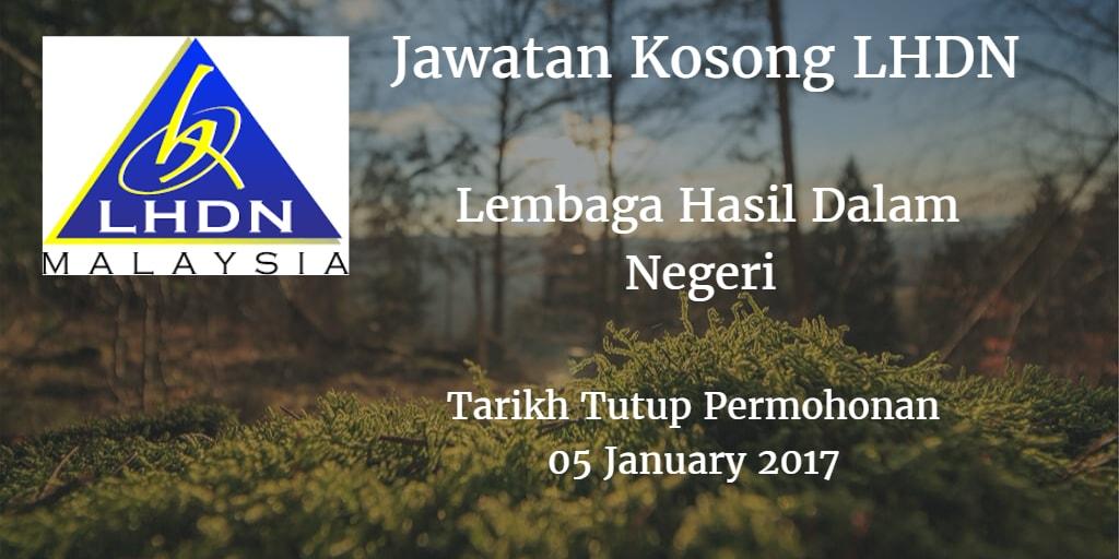 Jawatan Kosong LHDN 05 January 2017