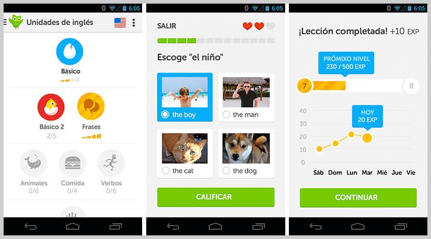 screen duolingo mejor aplicación android de idiomas