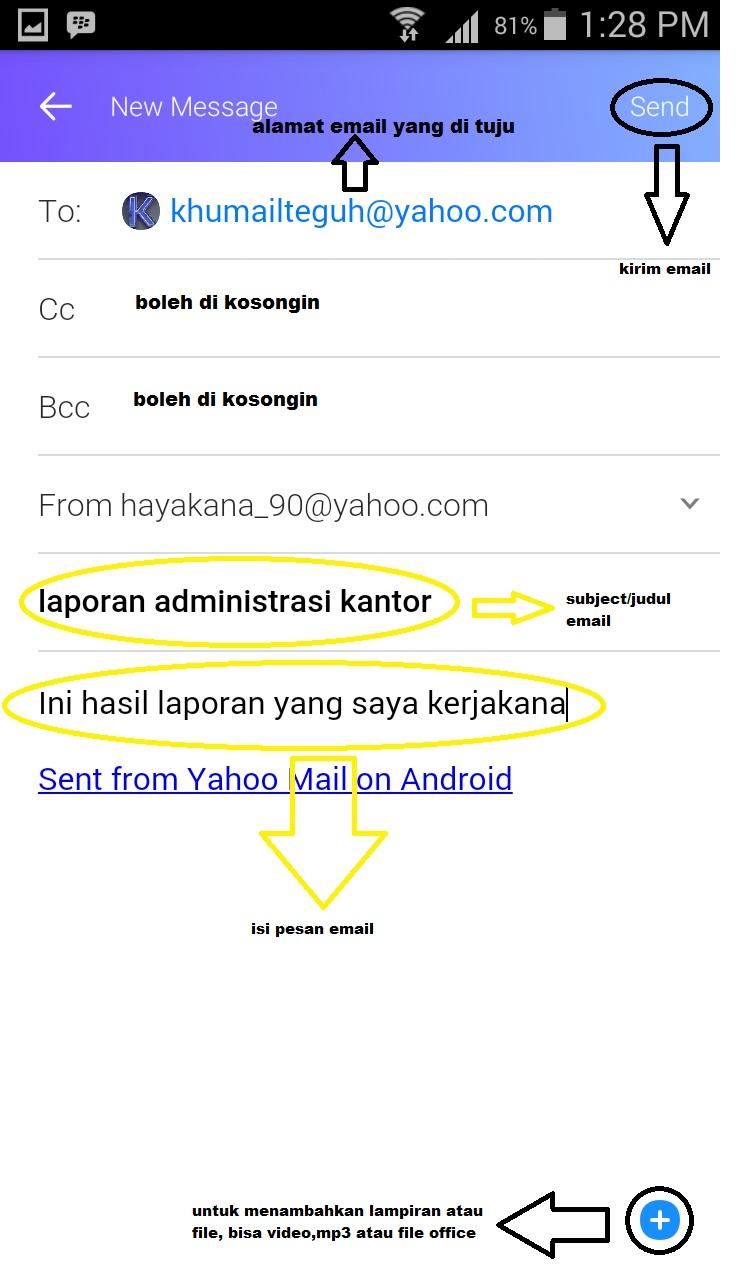 Cara Mengirim Email Yahoo Terbaru di Hp Android | Kirim