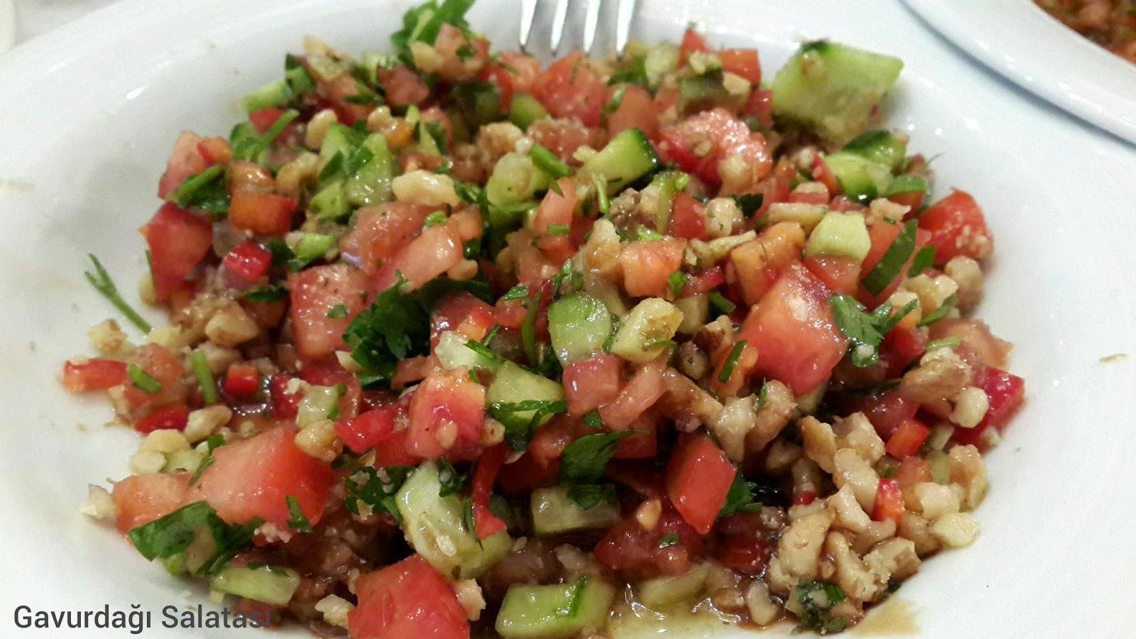 gavurdağı, salata, cevizli salata, imam çağdaş, Gaziantep, restoran, gezi