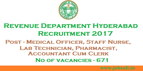 Staff Nurse Vacancy, medical officer jobs in Hyderabad, Lab Technician Jobs