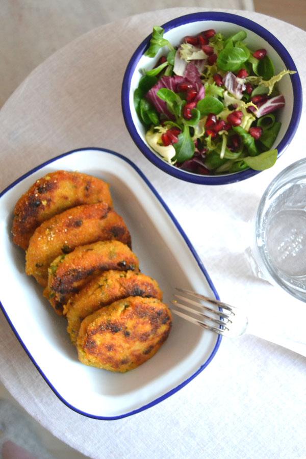 recette palets de patate douce sans gluten