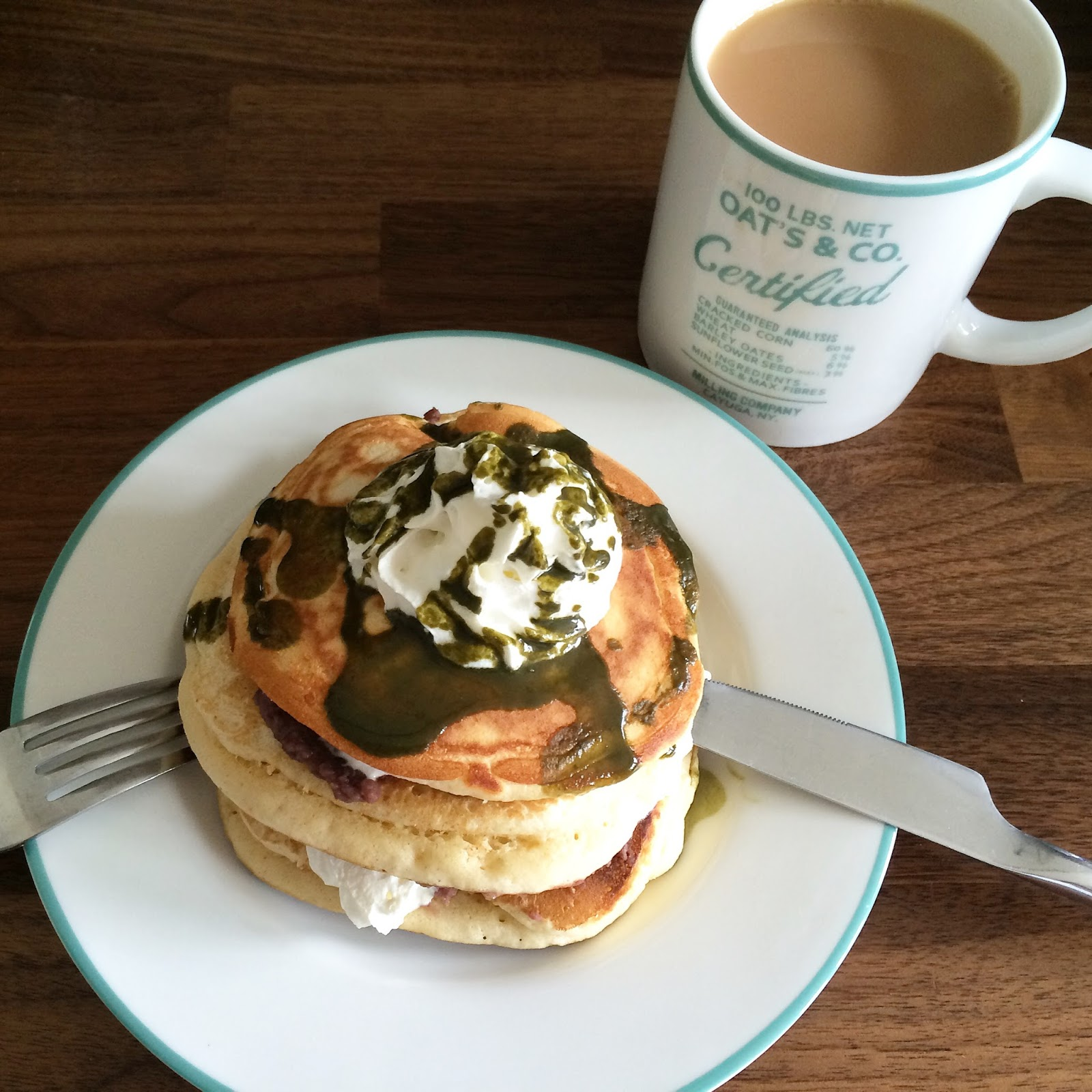 matcha-american-style-pancakes