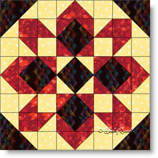 Starglow quilt block image © Wendy Russell