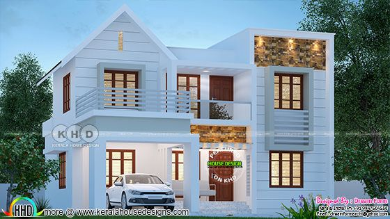Cute and stylish 1850 sq-ft house plan
