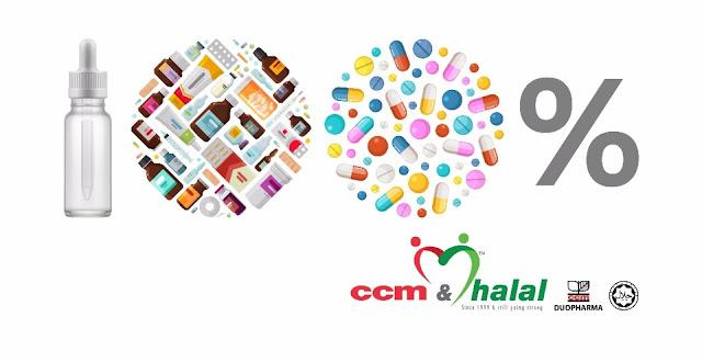 CCM Duopharma 100% halal