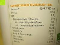 Nährwertangaben: Süßlupine kBA mit Bio-Bourbon Vanille - 700 g (Effective Nature)