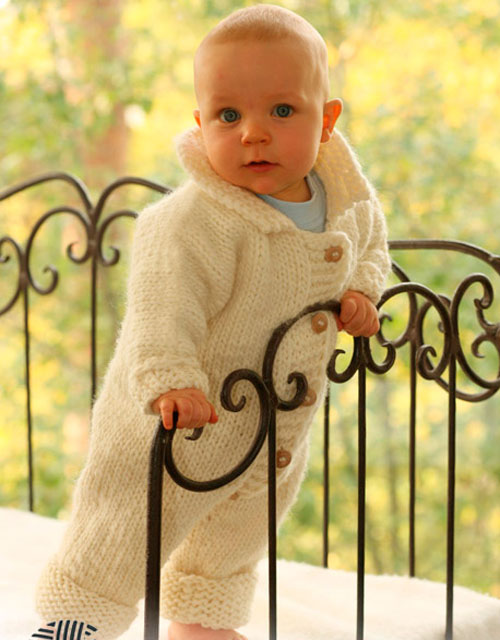 Knitted Baby Jumpsuit - Free Pattern