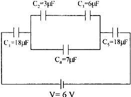 Rangkaian kapasitor seri dan paralel, Besar muatan listrik pada kapasitor C1