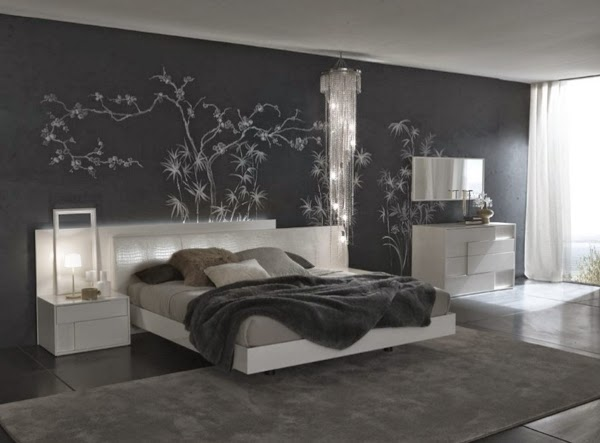 habitación color gris