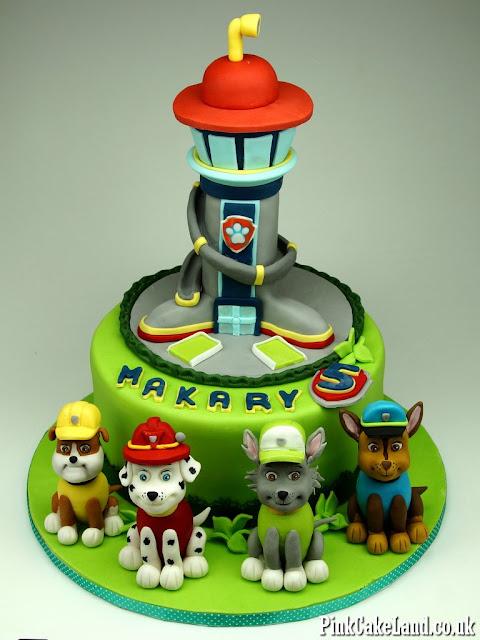 bday cakes paw patrol