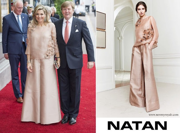 Queen Maxima wore Natan trousers and top, jumpsuits