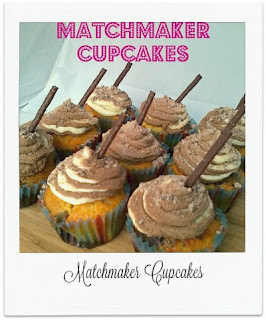These delicious cupcakes, made with a chocolate marbled sponge & topped with a double frosting, see the classic Matchmaker used throughout the bake.