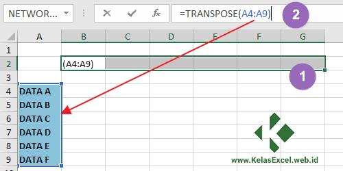 Contoh Rumus Transpose Excel