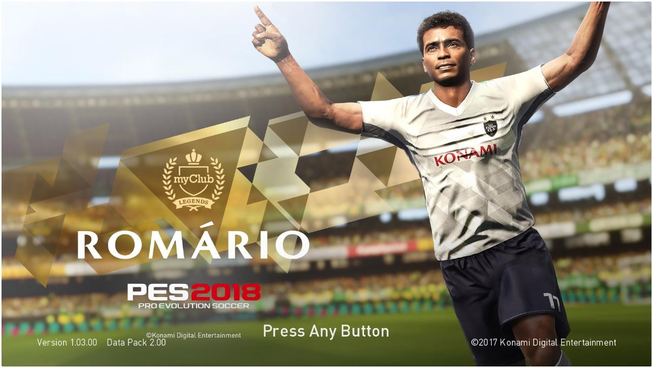 PES 2018 Romário de Souza Faria Start Screen V1 + V2 by ABW