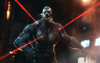 Venom Lasers Rouges Artwork - Fond d'écran en Ultra HD 4K 2160p