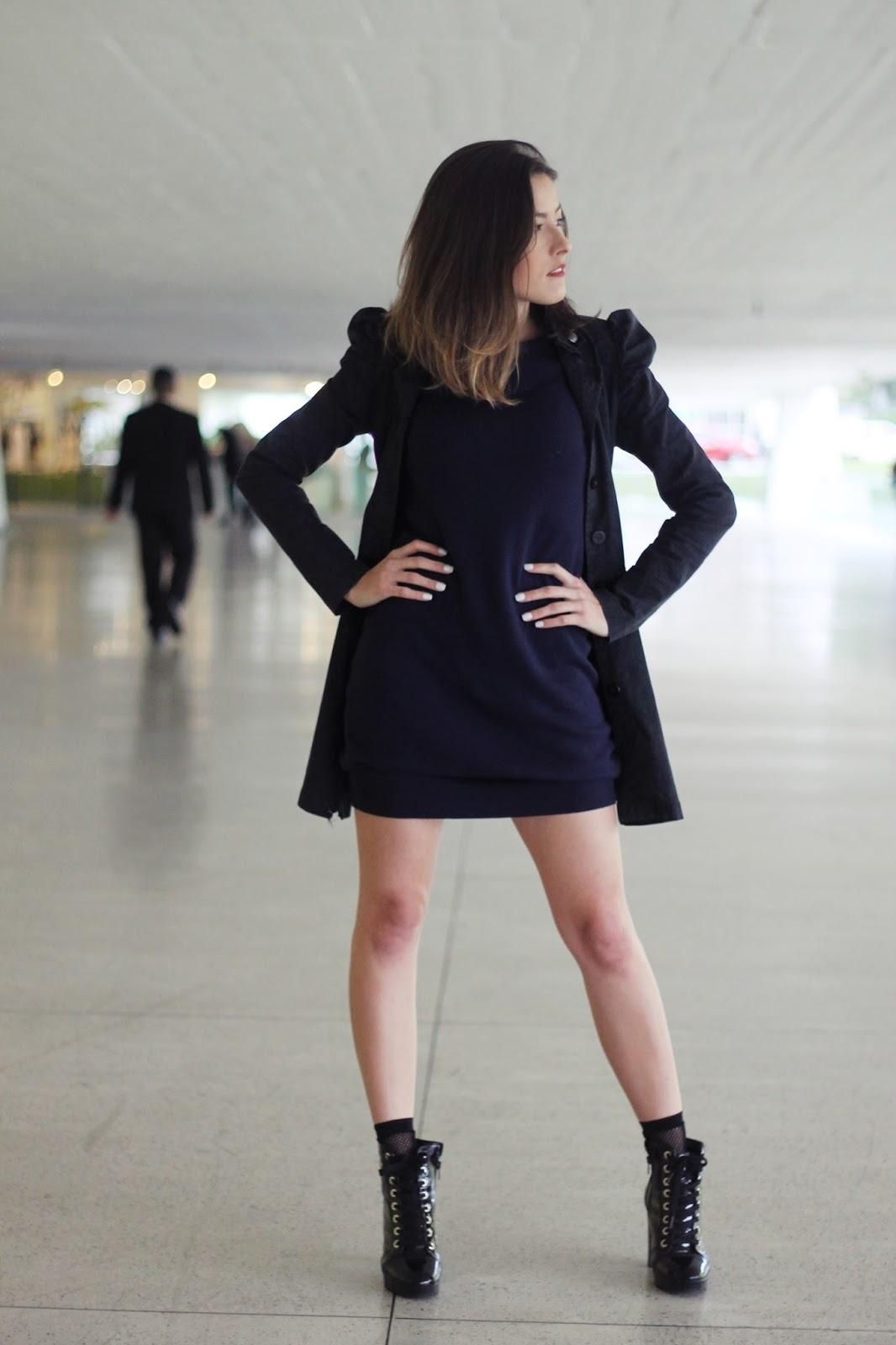 Vestido de fio + bota coturno - Ally Arruda