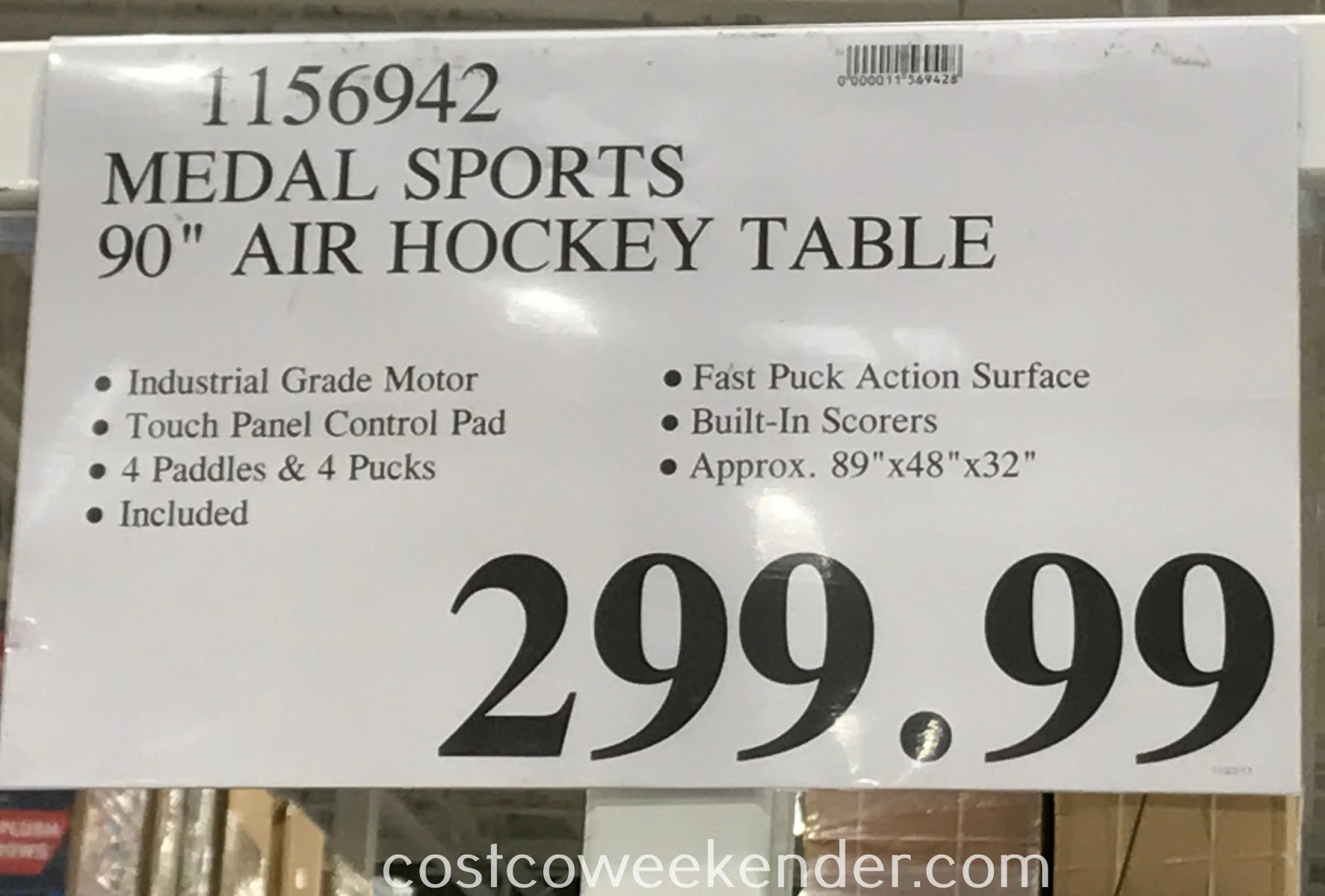 Deal for the Medal Sports Air Powered Hockey Table at Costco