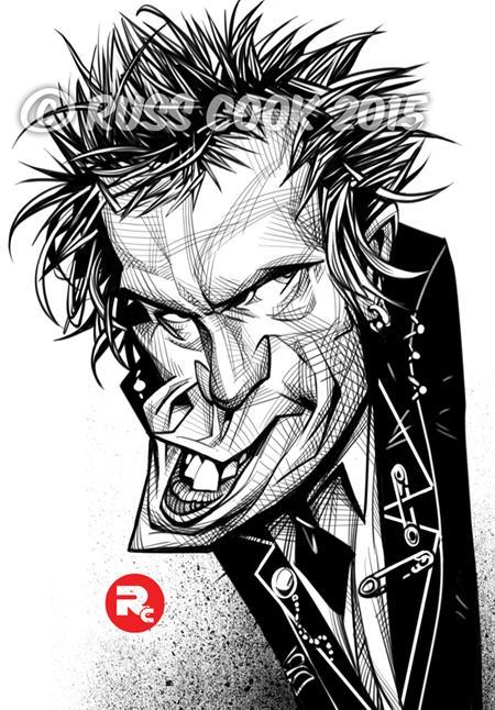 Johnny Rotten por Russ Cook