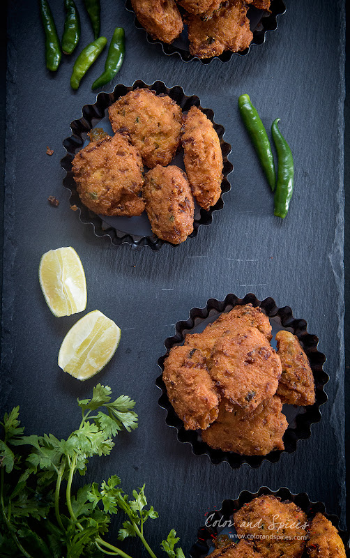 Macher dimer bora (fish roe fritters)