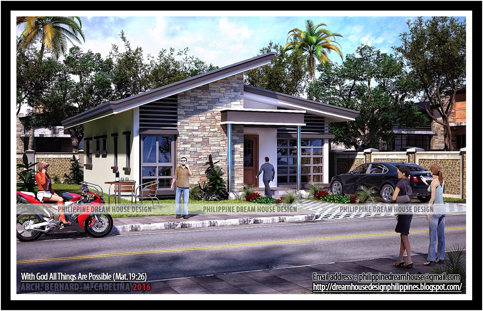 Philippine dream house design two bedroom bungalow house for Small modern bungalow house design