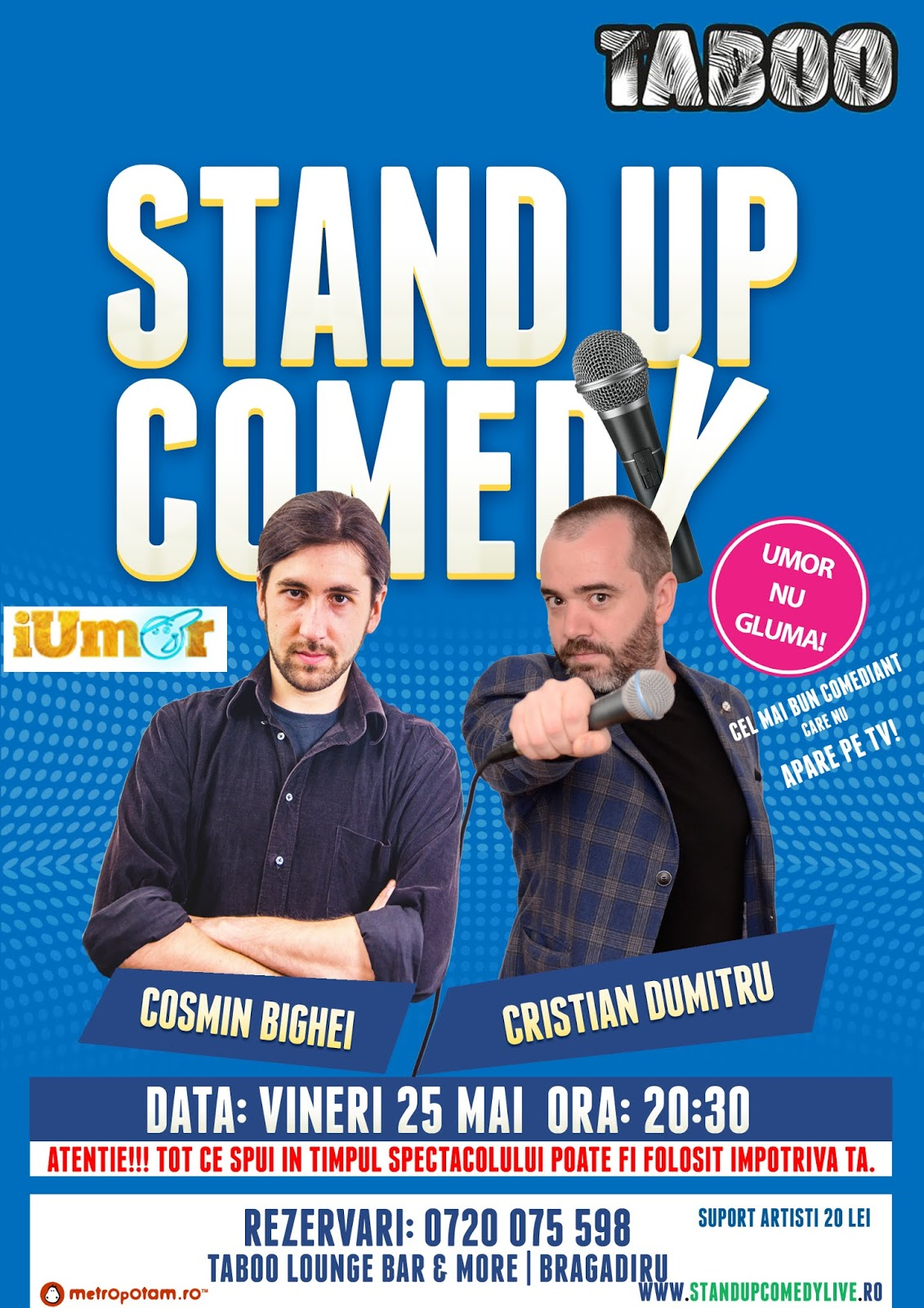 Stand-Up Comedy Bragadiru Vineri 25 Mai