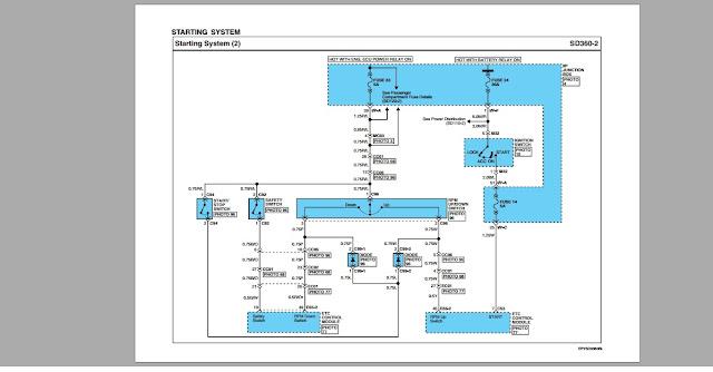 Sơ đồ hệ thống khởi động động cơ Hyundai D6CC