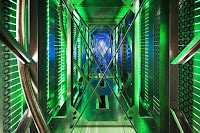 Inside a Google data center. (Credit: Google) Click to Enlarge.