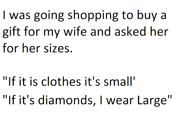 funny joke on gift for your wife