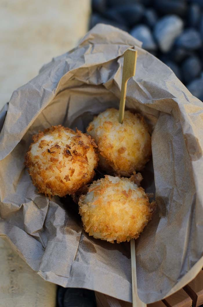 delicious deep fried sushi balls