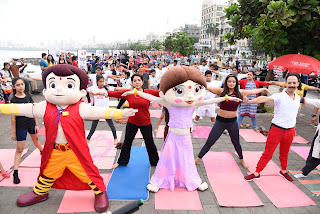 Bheem is a hit as he gets fit with kids, Mickey Mehta, Shaina NC and Neetu Chandra on his birthday!