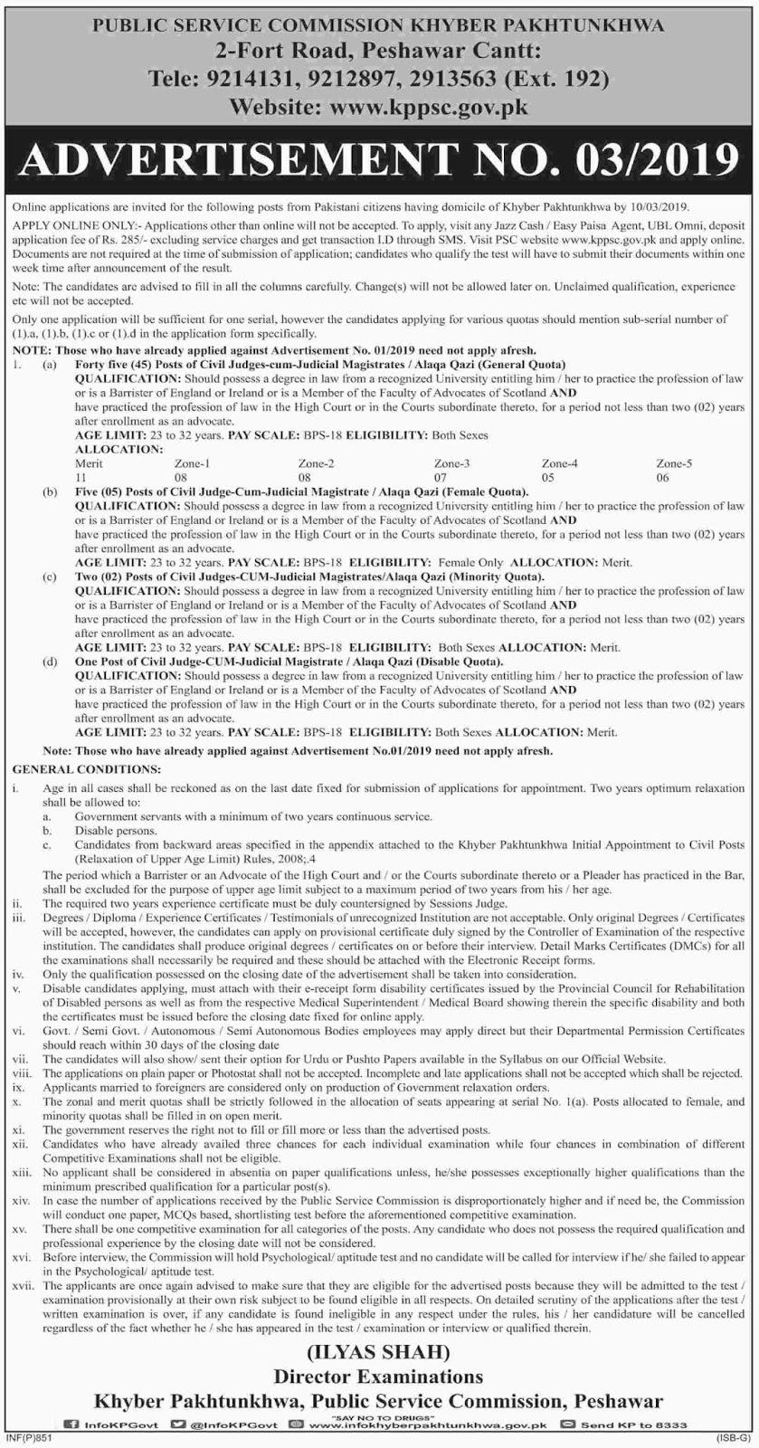 KPPSC March 2019 Jobs