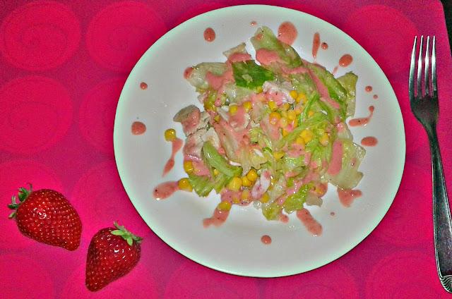 полунична заправка для салату