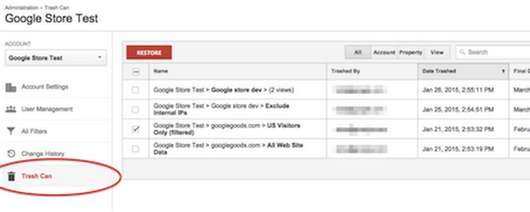 Introducing Trash Can: Data Recovery in Google Analytics - Analytics Blog