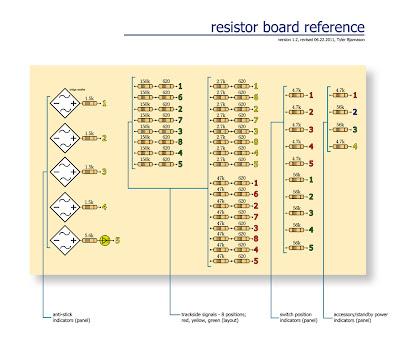 Final resistor board layout schematic