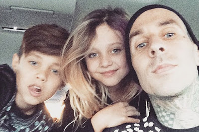 Travis Barker with daughter Alabama Luella and the son Landon