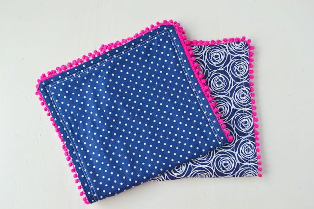 diy pom pom burp cloth