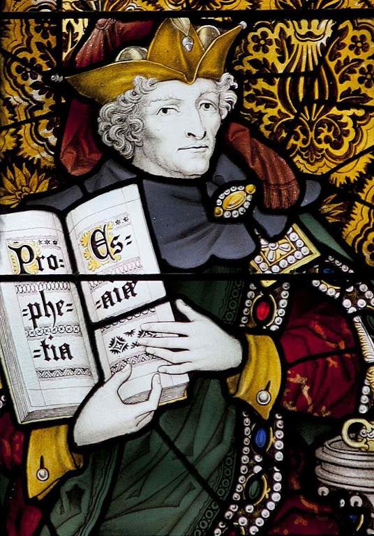 Isaías profeta. Vitral da catedral de Edinburgo, Escócia.