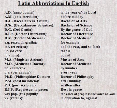 Nanny Knows Best: Nanny Bans Latin Abbreviations
