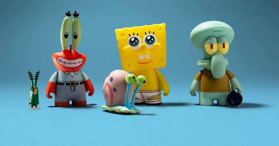 Kidrobot x Nickelodeon Series 2 SpongeBob SquarePants /& Gary Vinyl Mini Toy