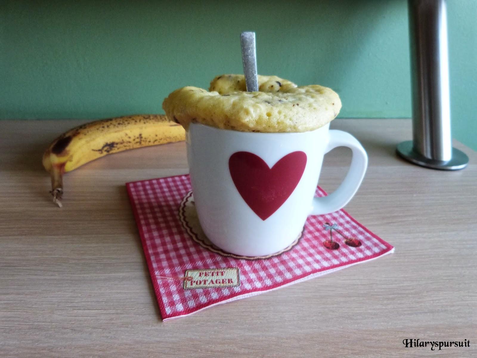 Dans La Cuisine D Hilary Mug Cake Banane Et Pepites De Chocolat