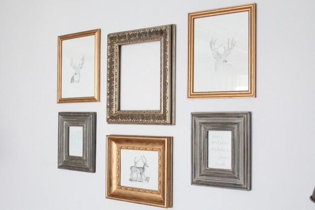 DIY Gilded Frames