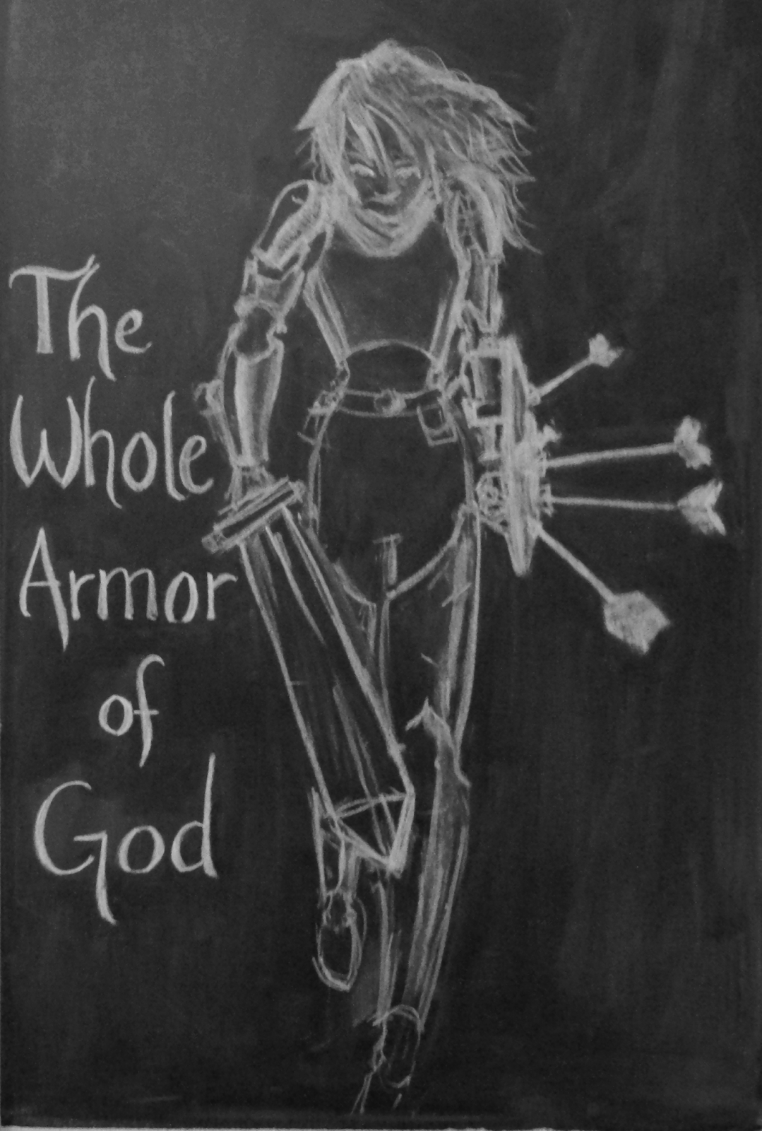 laura's frayed knot: Whole Armor of God chalkboard...