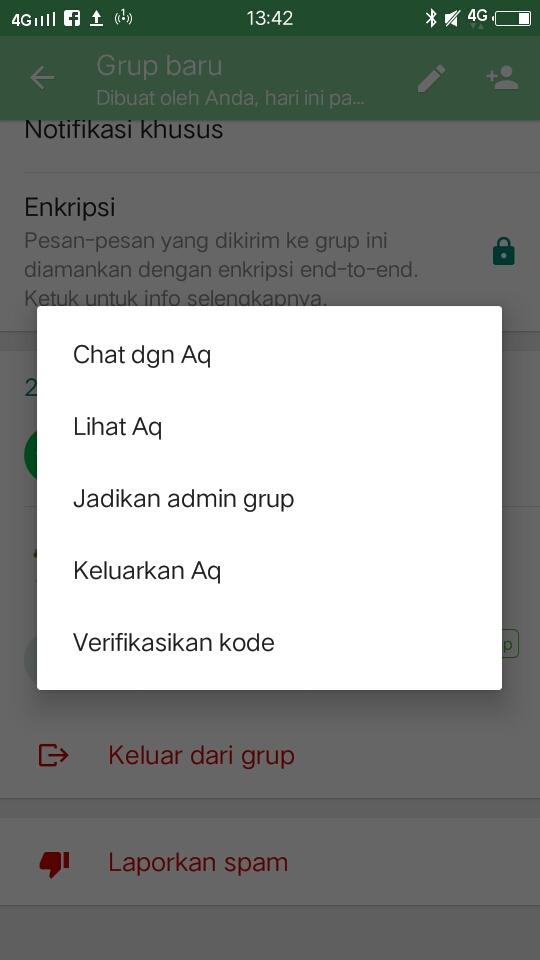 Setting grup whatsapp