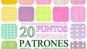 20 Diagramas de Puntadas a Crochet para Guardar