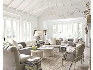 French Style Living Room White Color